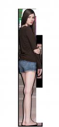 neushop women cotton t- shirt long sleeve brown
