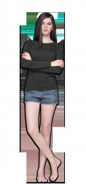 neushop women cotton t- shirt long sleeve gray