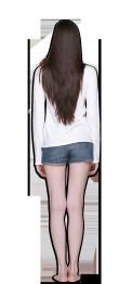 neushop women cotton long sleeve white back