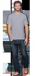 neushop men cotton t-shirt  Lysell  Gray Dawn