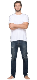 neushop men cotton t-shirt  Lysell  White