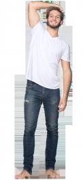 neushop men cotton t-shirt  Morris White
