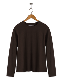 neushop women cotton t- shirt long sleeve brown