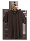 neushop men cotton t-shirt  Morris Seal  Brown