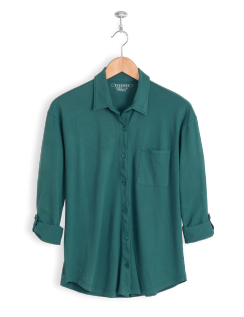 neushop-women-hoffman-cotton-shirt-silver-green