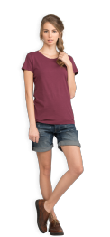 neushop-women-cotton-t-shirt-meda-amaranth-front