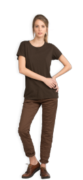 neushop-women-cotton-t-shirt-meda-chestnut-front