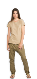 neushop-women-cotton-t-shirt-meda-pale-olive-green-front