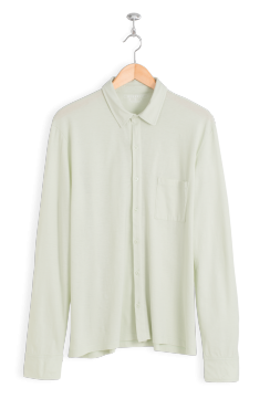 neushop-man-krohn-cotton-shirt-silver-green