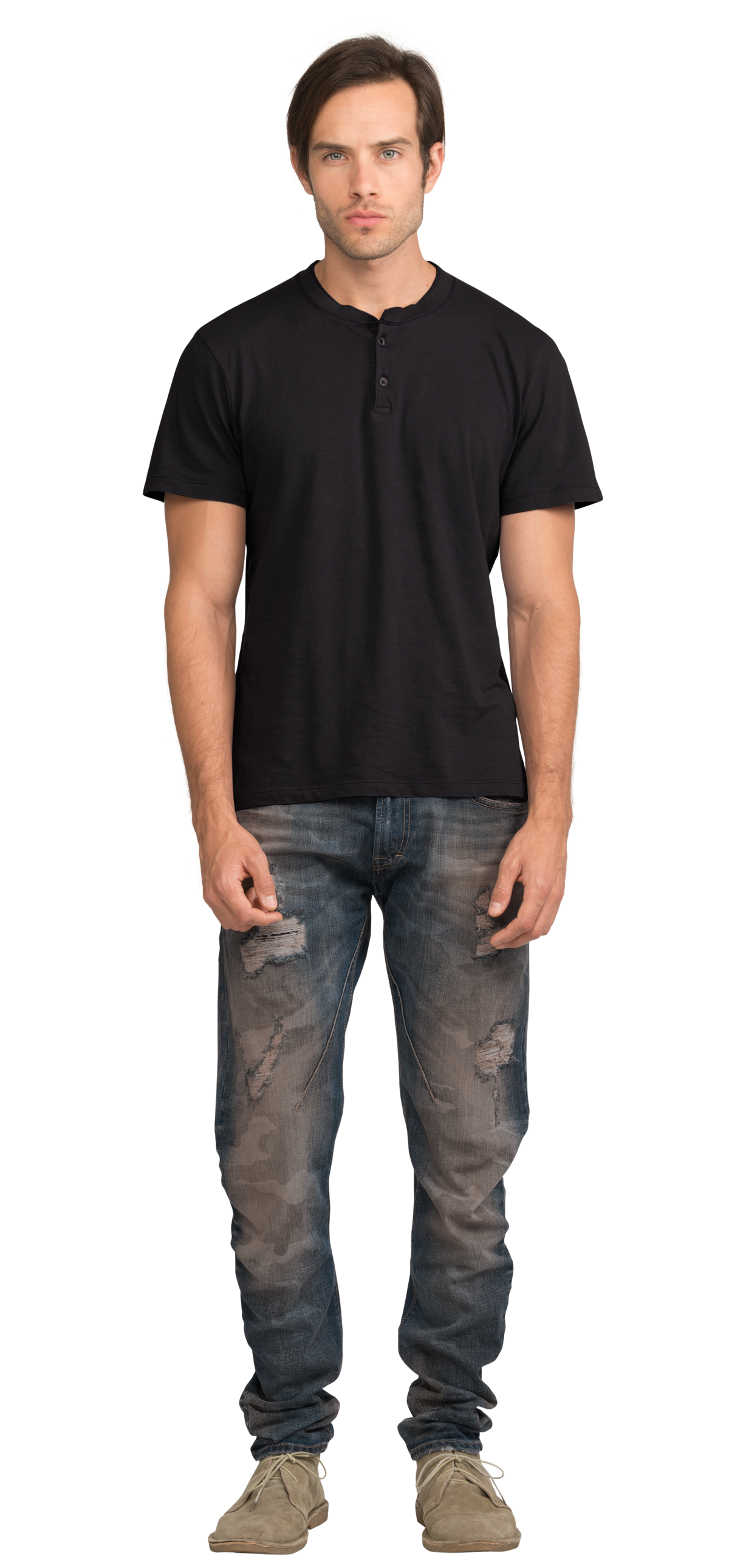 Black t shirt man - Neushop Man Loewy Cotton T Shirt Black