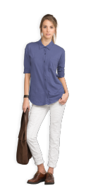 neushop-woman-hoffman-cotton-shirt-skipper-blue