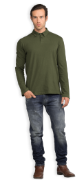 neushop-man-polo-scott-cotton-shirt-riffle-green
