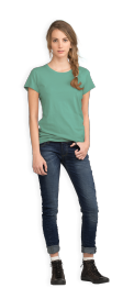 neushop-women-cotton-t-shirt-meda-silver-green
