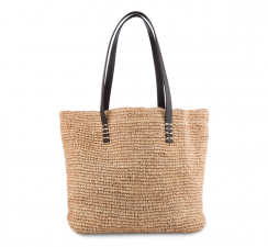 Neushop_Raffia_Leather Straps_Tote_1