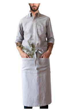 Garson Washed Linen Waist Apron