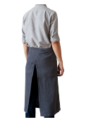 Garson Washed Linen Waist Apron Dark Grey