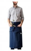 Garson Washed Linen Waist Apron Navy