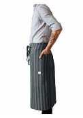 Neushop | Linen Tales Regular Apron Light Grey Wide Stripes