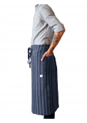 Neushop | Linen Tales Regular Apron Midnight Blue Wide Stripes