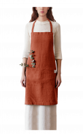 Neushop | Linen Tales Regular Apron Baked Clay