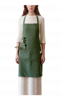 Neushop | Linen Tales Regular Apron Dark Green