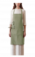 Linen Tales Regular Apron_Baked_Clay