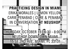 neushop, lemon yellow, cure & pentad, practicing design in miami